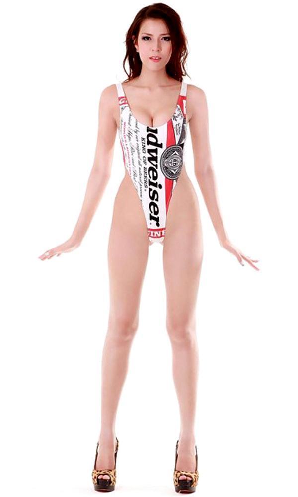 53bedda8ed8 High Cut Budweiser One Piece - High Cut One-Pieces - Bikini Boss