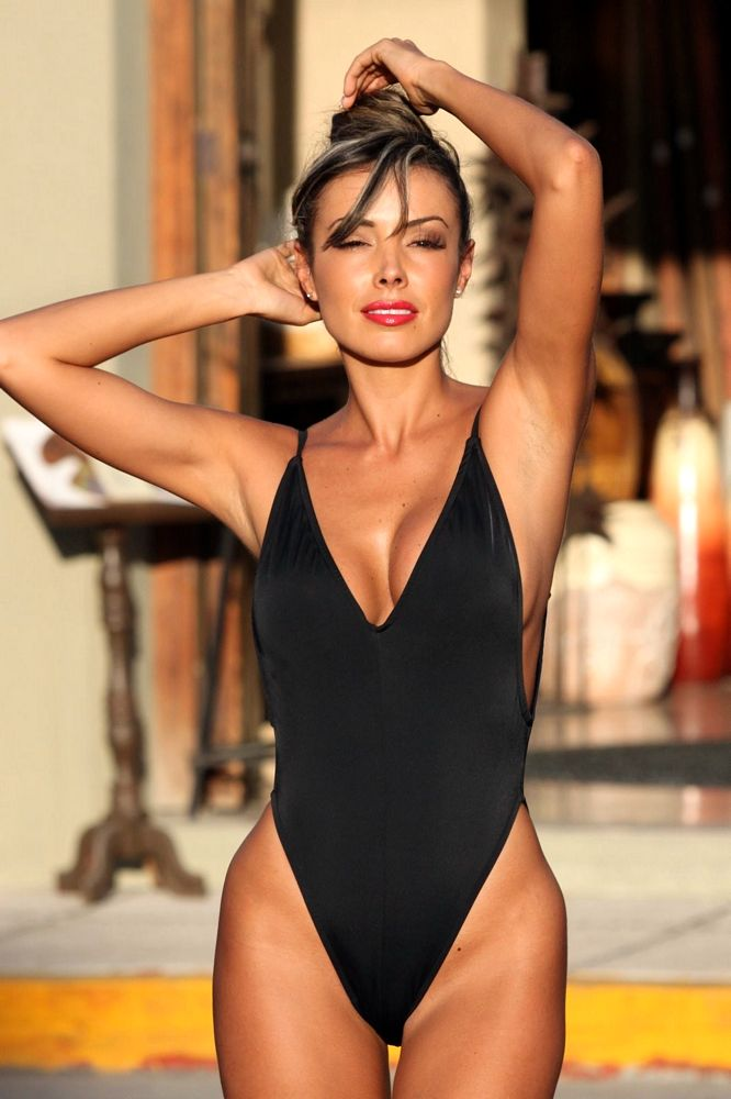 2f9ea27c97256 Exalted Black One Piece Swimsuit - High Cut One-Pieces - Bikini Boss