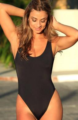 Stunning Black One Piece Swimsuit
