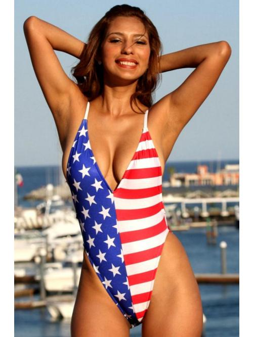 Delightful American One Piece Swimsuit
